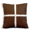 Style Selections Dakota 18-in x 18-in Chocolate Square Pillow