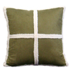 Style Selections Dakota 18-in x 18-in Olive Square Pillow