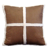 Style Selections Dakota 18-in x 18-in Saddle Square Pillow