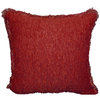 Style Selections Rocco 18-in x 18-in Pomegranate Square Pillow