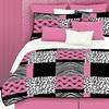 Pink Skulls 3-Piece Pink Twin Comforter Set