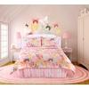 Butterflies Are Free 4-Piece Pink Queen Comforter Set