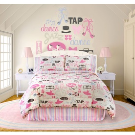 Little Dancer 3-Piece Raspberry Twin Comforter Set