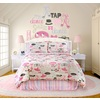 4-Piece Little Dancer Raspberry Queen Comforter Set