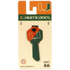 Fanatix #66 University of Miami Hurricanes Key Blank