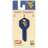 #66 West Virginia Mountaineers Key Blank