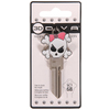 The Hillman Group #68 3D Girly Skull Key Blank