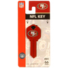 The Hillman Group San Francisco 49ers Brass House/Entry Key Blank