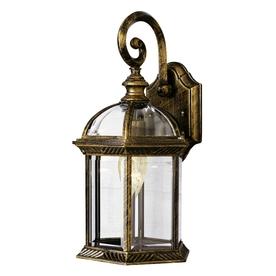 Bel Air Lighting 15.75-in H Black Gold Outdoor Wall Light