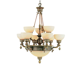 Portfolio 12-Light In The Mediterranean Lincoln Copper Chandelier