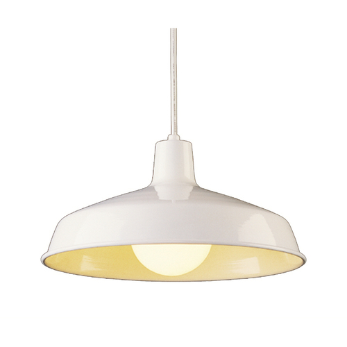 Zoomed: Portfolio 1-Light White Pendant Light