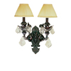 Portfolio 15-in W 2-Light Enriched Iron Crystal Arm Wall Sconce