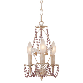 Portfolio 3-Light The Olde World Antique White Chandelier