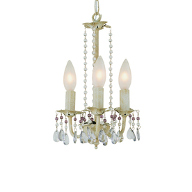 Bel Air Lighting 3-Light The Old World Antique White Chandelier