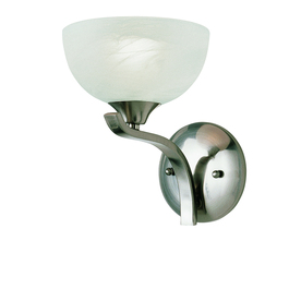 Portfolio Wall Sconce Brushed Nickel : Shop Portfolio 7-in W 1-Light Brushed Nickel Arm Wall Sconce at Lowes.com