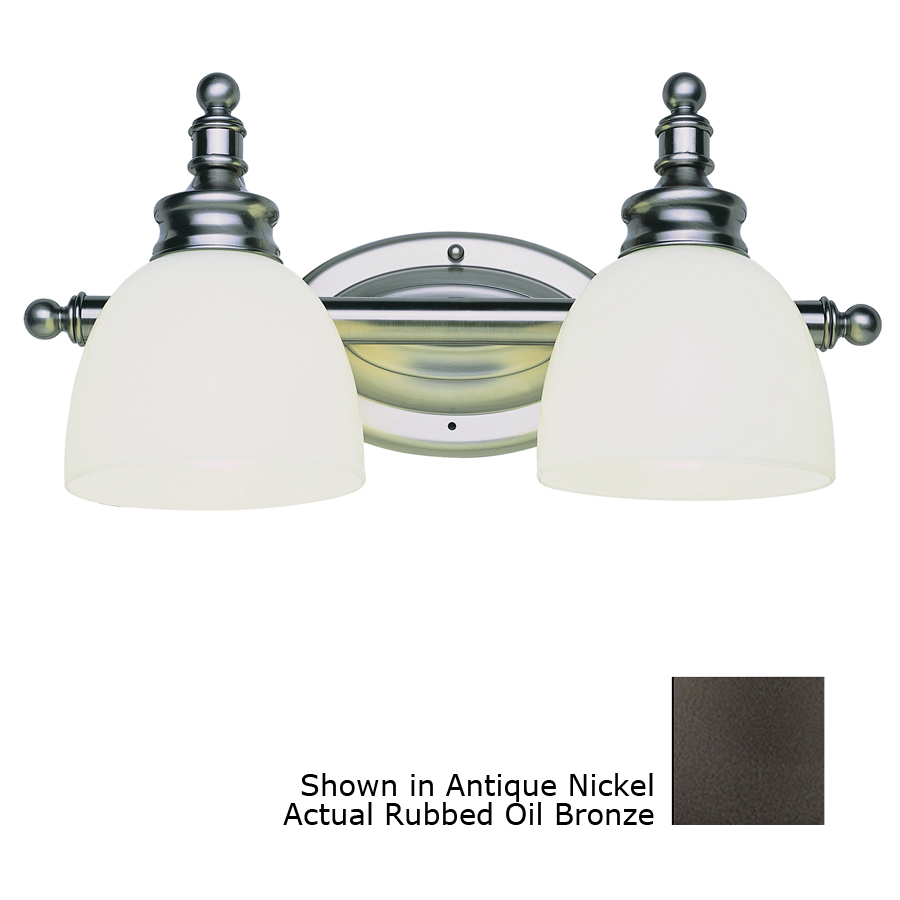 Shop Bel Air Lighting 2-Light Oil-Rubbed Bronze Bathroom Vanity Light at Lowes.com