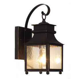Shop Bel Air Lighting 14 In H Weathered Bronze Outdoor Wall Light At