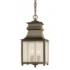 Bel Air Lighting 16-1/2-in Weathered Bronze Outdoor Pendant Light
