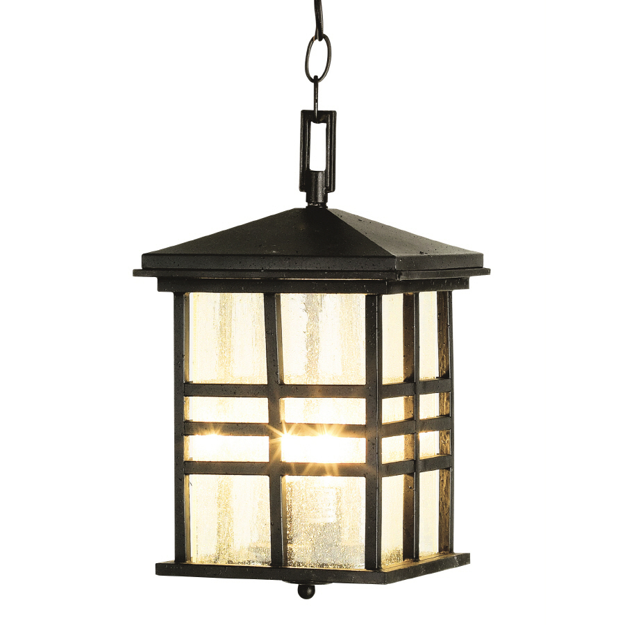 Outdoor Hanging Lanterns Lowes: Shop Bel Air Lighting 14-in H Black Outdoor Pendant Light