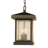 Bel Air Lighting 13-in Weathered Bronze Outdoor Pendant Light