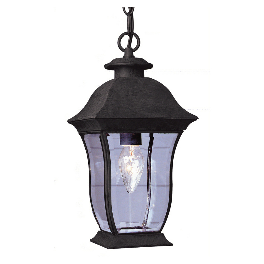 Shop bel air lighting 15 in h black outdoor pendant light Outdoor pendant lighting