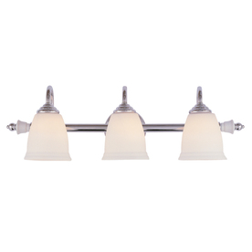 Bel Air Lighting 3-Light Porcelain Polished Chrome Bathroom Vanity Light