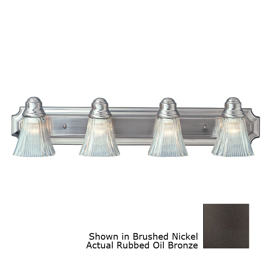 Bathroom Vanity Lights In Oil Rubbed Bronze : Shop Bel Air Lighting 4-Light Oil-Rubbed Bronze Bathroom Vanity Light at Lowes.com