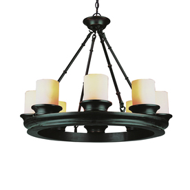 Bel Air Lighting 8-Light Modern Meets Traditional Oil-Rubbed Bronze Chandelier