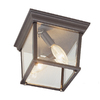 Portfolio 9.25-in Brown/Tan Outdoor Flush-Mount Light