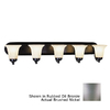 Bel Air Lighting 5-Light Brushed Nickel Bathroom Vanity Light
