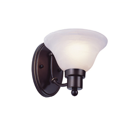 Bel Air Lighting Back to Basics 7.25-in W 1-Light Weathered Bronze Arm Hardwired Wall Sconce