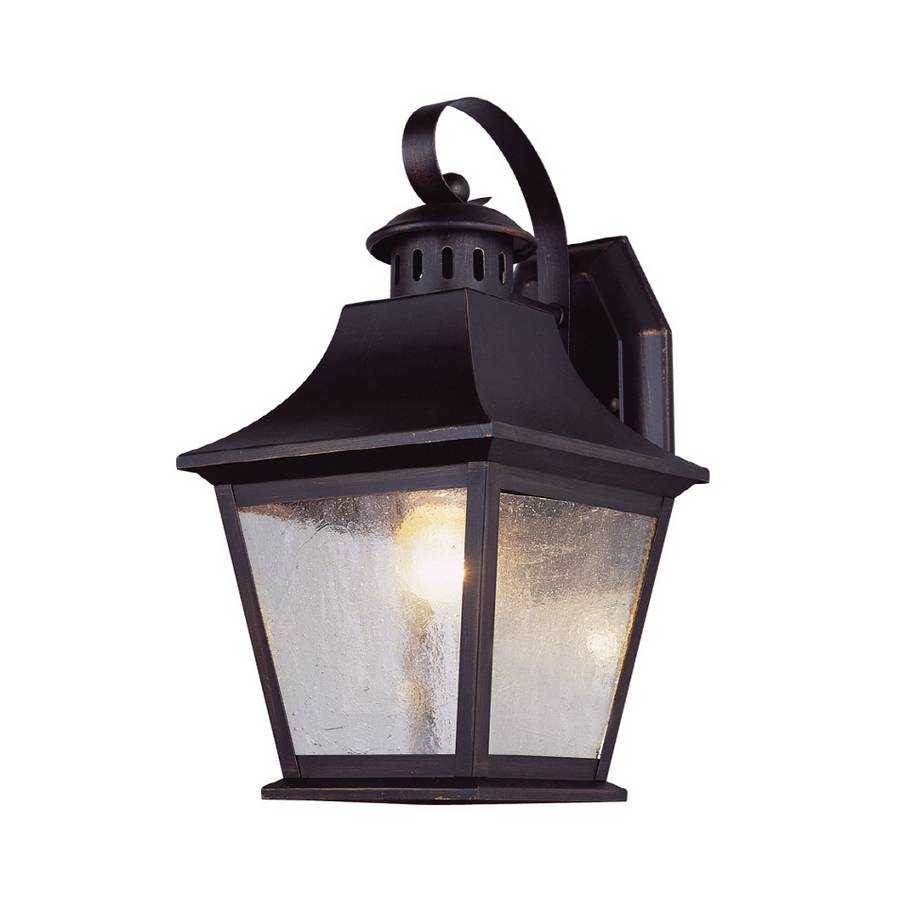 Exterior Wall Lights Lowes : Shop Portfolio 11-in H Oil-Rubbed Bronze Outdoor Wall Light at Lowes.com