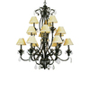 Portfolio 15-Light Crystal Flair Enriched Iron Crystal Chandelier
