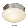 Portfolio 2-Pack 8-in Brushed Nickel Ceiling Flush Mount