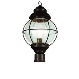 Bel Air Lighting 19-in H Black Post Mount
