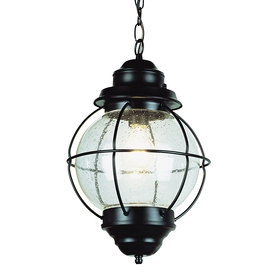 Bel Air Lighting 19-in Black Outdoor Pendant Light