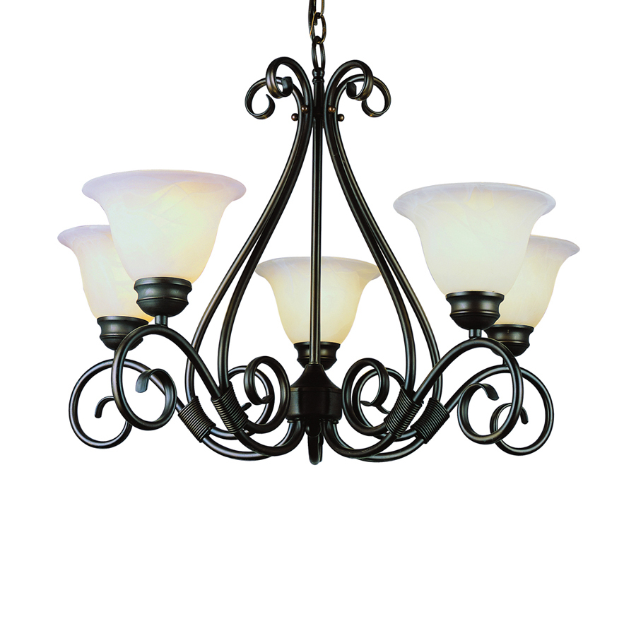 Shop Bel Air Lighting New Century 5 Light Oil Rubbed