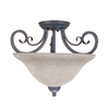 Portfolio 14-1/2-in W Bronze Gold Marbleized Semi-Flush Mount Light