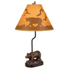 Bel Air Lighting 21.5-in Bronze Indoor Table Lamp with Fabric Shade