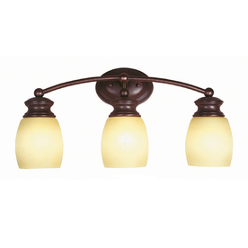 Shop Portfolio 3 Light Oil Rubbed Bronze Bathroom Vanity Light At