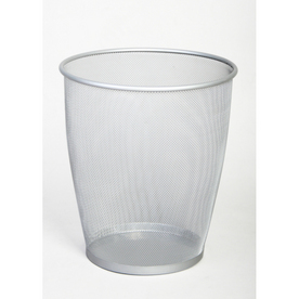 6.60-Gallon Silver Trash Can