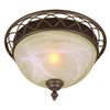 Bel Air Lighting 13-in Bronze Ceiling Flush Mount