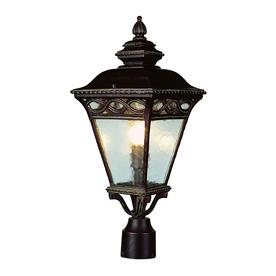 shop bel air lighting 3 light post top lantern at. Black Bedroom Furniture Sets. Home Design Ideas