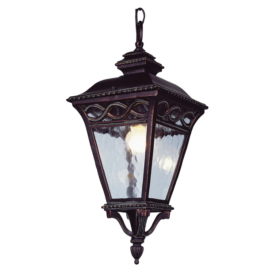 Shop Bel Air Lighting 34 In H Burnished Bronze Outdoor Pendant Light At Lowes