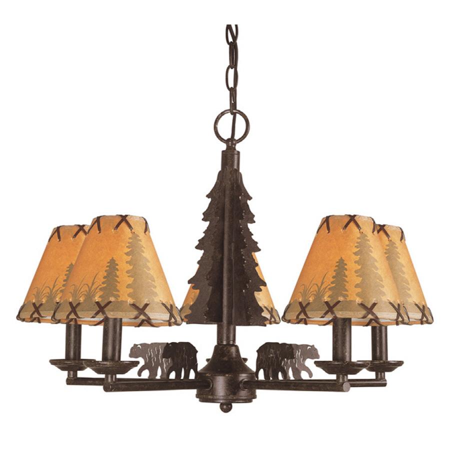 Shop Bel Air Lighting Lodge Decor 5 Light Oil Rubbed