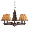 Bel Air Lighting 5 -Light Lodge Decor Oil-Rubbed Bronze Chandelier