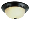 Bel Air Lighting 13-in Oil-Rubbed Bronze Ceiling Flush Mount