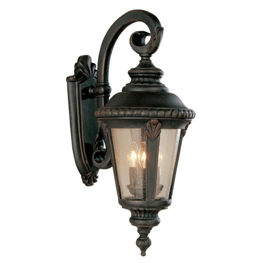 shop portfolio 24 in rust outdoor wall light at. Black Bedroom Furniture Sets. Home Design Ideas