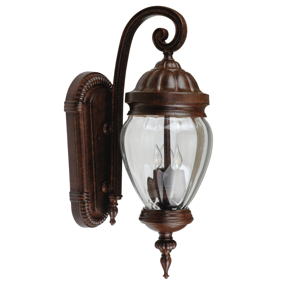 Shop Portfolio 24.75-in H Antique Rust Outdoor Wall Light at Lowes.com