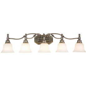 Portfolio 5-Light Antique Nickel Bathroom Vanity Light
